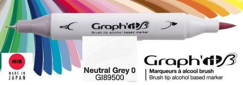 # GRAPH IT BRUSH MARKER - Двувърх дизайн маркери ЧЕТКА - NEUTRAL GREY 0