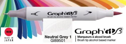 # GRAPH IT BRUSH MARKER - Двувърх дизайн маркери ЧЕТКА - NEUTRAL GREY 1