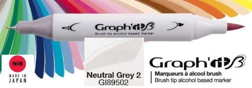 # GRAPH IT BRUSH MARKER - Двувърх дизайн маркери ЧЕТКА - NEUTRAL GREY 2