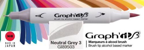 # GRAPH IT BRUSH MARKER - Двувърх дизайн маркери ЧЕТКА - NEUTRAL GREY 3