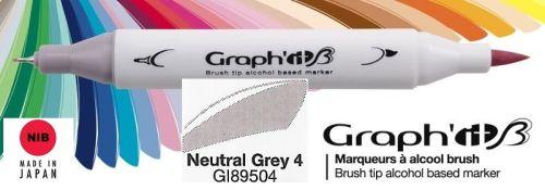 # GRAPH IT BRUSH MARKER - Двувърх дизайн маркери ЧЕТКА - NEUTRAL GREY 4