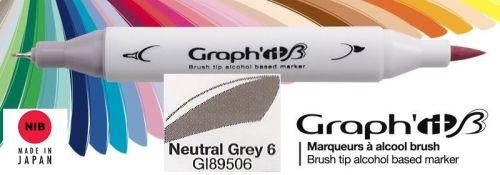 # GRAPH IT BRUSH MARKER - Двувърх дизайн маркери ЧЕТКА - NEUTRAL GREY 6