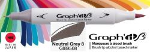 # GRAPH IT BRUSH MARKER - Двувърх дизайн маркери ЧЕТКА - NEUTRAL GREY 8