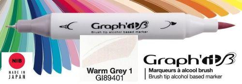 # GRAPH IT BRUSH MARKER - Двувърх дизайн маркери ЧЕТКА - WARM GREY 1