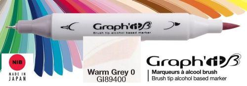 # GRAPH IT BRUSH MARKER - Двувърх дизайн маркери ЧЕТКА - WARM GREY 0
