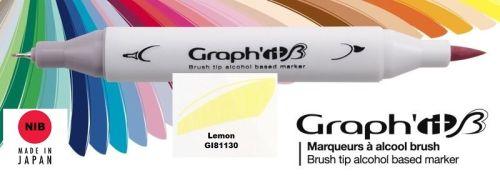 # GRAPH IT BRUSH MARKER - Двувърх дизайн маркери ЧЕТКА - LEMON