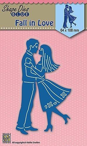 """SHAPE DIES """"Fall in Love"""" 64x108mm  - Фигурална щанца за рязане и релеф SDB031"""