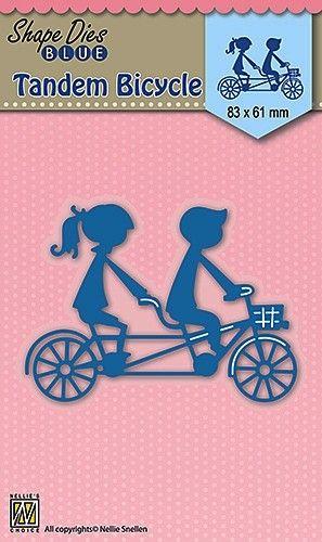 """BIKE DIES """"Tandem bicycle"""" 83x61mm - Фигурална щанца за рязане и релеф SDB029"""