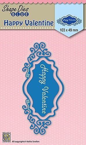 "SHAPE DIES ""Happy Valentine"" 90x62mm - Фигурална щанца за рязане и релеф SDB028"