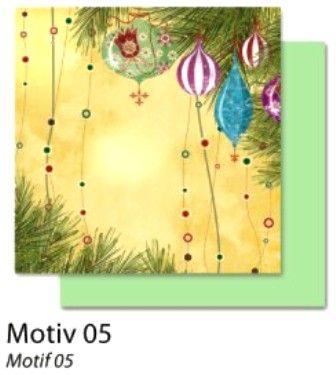FB Christmas 05 - Дизайнерски картон с ембос-глитер елементи - 30,5 Х 30,5 см.
