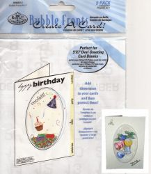 "CARD BUBBLE FRONTS 4""x6"" 5бр - 3D  форми за отвори на картички ЕЛИПСА"