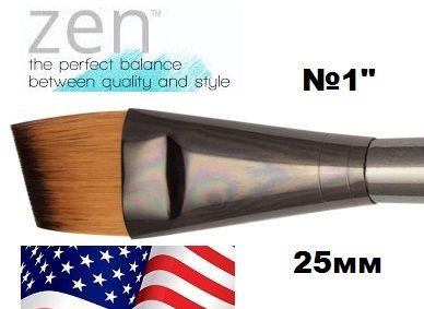 ZEN 73 Angular, USA - Профи `скосена` четка за различни техники №1''  25mm