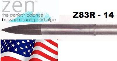 """ZEN 83 Round, USA - Профи  четка """"катеричка"""" за акварелни техники № 14"""