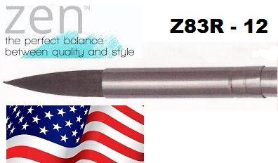 """ZEN 83 Round, USA - Профи  четка """"катеричка"""" за акварелни техники № 12"""