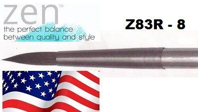 """ZEN 83 Round, USA - Профи  четка """"катеричка"""" за акварелни техники № 8"""