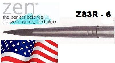 """ZEN 83 Round, USA - Профи  четка """"катеричка"""" за акварелни техники № 6"""