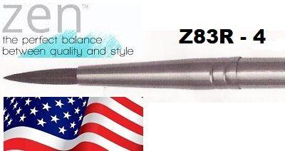 """ZEN 83 Round, USA - Профи  четка """"катеричка"""" за акварелни техники № 4"""