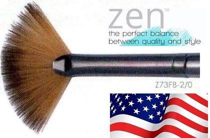 ZEN 73 Fan, USA - Профи `ветрило` четка за различни техники №2/0