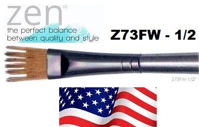 ZEN 73 Wisp, USA - Профи `гребен` четка за различни техники №1/2''