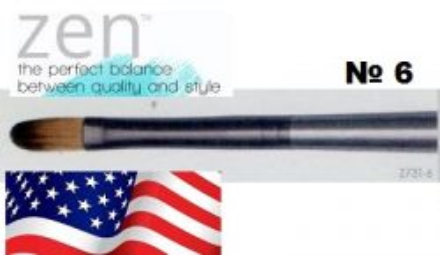 ZEN 73 Filbert, USA - Профи `котешки език` четка за различни техники №6