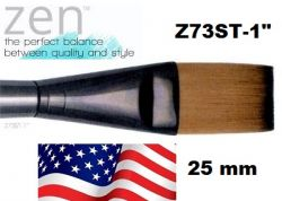 """ZEN 73 One Stroke, USA -  ДЕКУПАЖНА ЧЕТКА и за различни техники №1"""" / 25мм"""