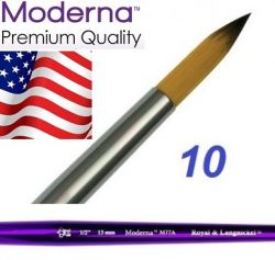 MODERNA BRUSH  Round, USA - Профи  четка за различни техники № 10
