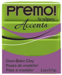`PREMO Accents` USA - Професионална серия полимерна глина -  Bright Green Pearl, 2oz