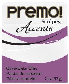 `PREMO Accents` USA - Професионална серия полимерна глина -  Frost White Glitter, 2oz