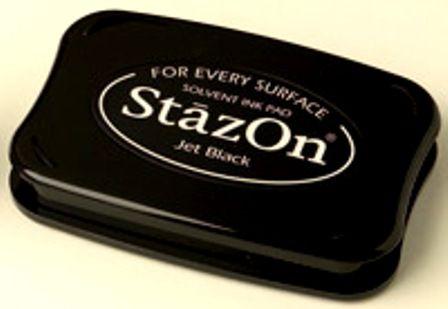 StazOn - Тампон за всякаква твърда или гланцирана повърхност - Черен