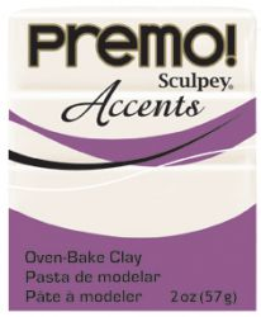 `PREMO Accents` USA - Професионална серия полимерна глина -  Pearl, 2oz