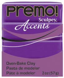 `PREMO Accents` USA - Професионална серия полимерна глина -  Purple Pearl, 2oz