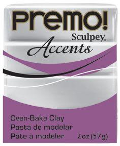 `PREMO Accents` USA - Професионална серия полимерна глина -  Silver, 2oz