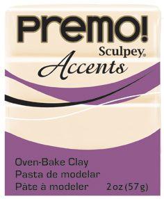 `PREMO Accents` USA - Професионална серия полимерна глина -  Translucent, 2oz