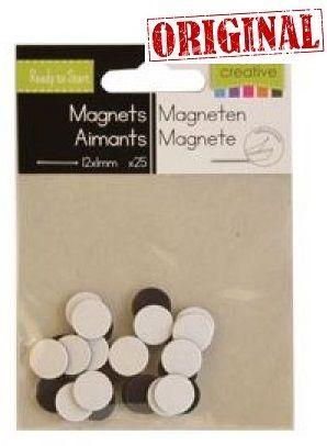 MAGNETS ADHESIVE - 25бр. самозалепващи се магнити с размери 12мм х 1мм