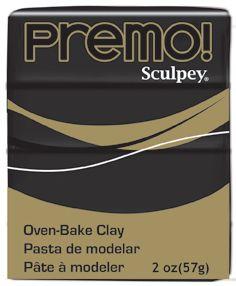 `PREMO` USA  - Професионална серия полимерна глина - Black, 2oz