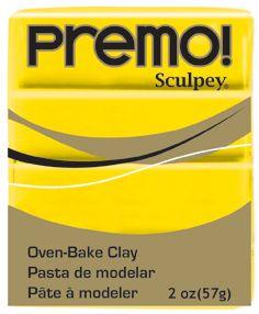 `PREMO` USA - Професионална серия полимерна глина - Cadmium Yellow , 2oz