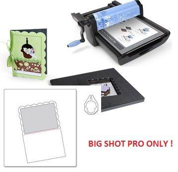 CARD Sizzix PRO / A6 SCALLOP & CUPCAKE - Щанци за рязане