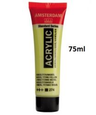 AMSTERDAM ACRYLIC - Акрилна боя за живопис 75 мл. NICKEL TIT. YELLOW