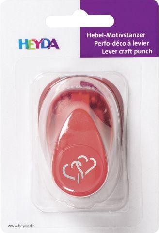 HEYDA Punch  17mm - Дизайн пънч СЪРЦА 3D