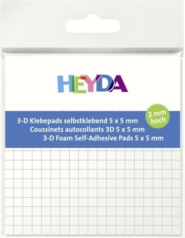 ADHESIVE PADS - 3Д двойно лепящи квадратчета - 5х5х2mm/ 361бр.