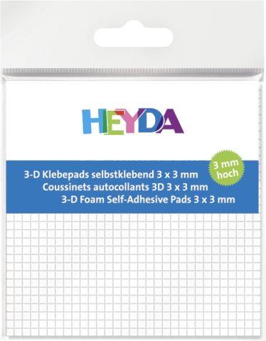 ADHESIVE PADS - 3Д двойно лепящи квадратчета - 3х3х3mm/ 961бр.