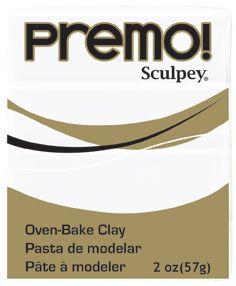 `PREMO` USA - Професионална серия полимерна глина 2oz  WHITE