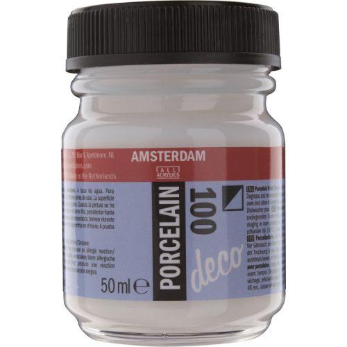 Amsterdam Deco Porcelain - White - Боя за ПОРЦЕЛАН с изпичане 50мл - Бяло 100