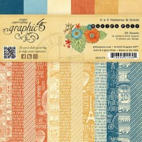 GRAPHIC45 USA  # WORLD FAIR  Pad - Дизайн блок 36 бр. - ОФЕРТА