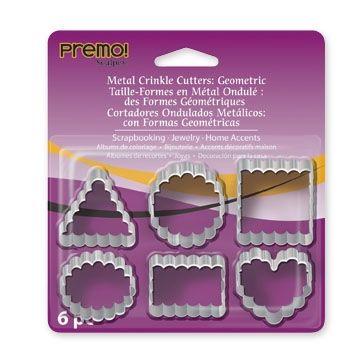 CUTTERS PREMO, USA - Метални форми за изрязване на моделини 6 вида