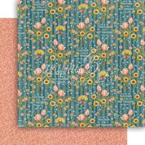GRAPHIC45 USA # garden path  - Дизайнерски скрапбукинг картон 30,5 х 30,5 см.