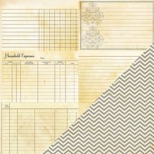 BAZZILL BP USA # HERITAGE - Дизайнерски скрапбукинг картон 30,5 х 30,5 см.