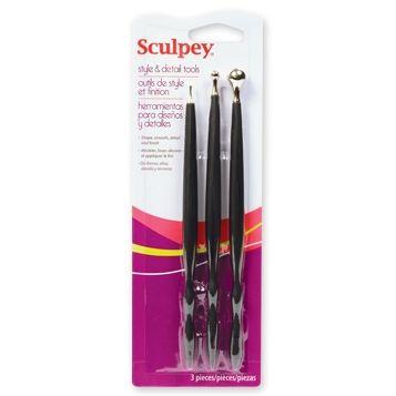 1.Sculpey, USA - К-кт 3 инструмента по 2 накрайника за детайлна работа с глини