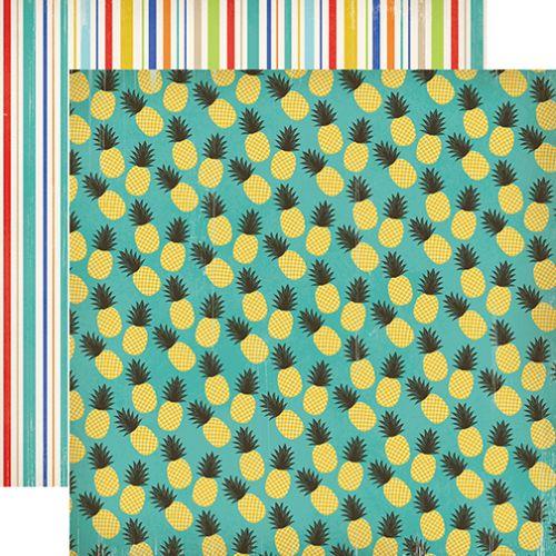 CARTA BELLA USA # BEACH DAY - Дизайнерски двустранен скрапбукинг картон 30,5 х 30,5 см.