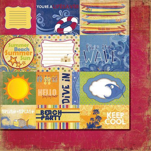 FANCY PANTS USA # BEACH BUM - Дизайнерски двустранен скрапбукинг картон 30,5 х 30,5 см.